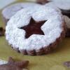 Chocolade linzer koekjes