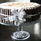 Slagroom met chocolade taart