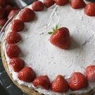 Zomerse aardbeien mousse taart