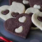Chocolade vanille hartjes
