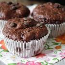 Chocolade yoghurt muffins
